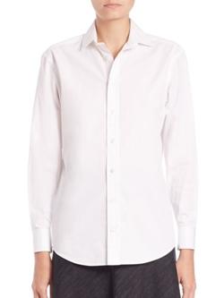 Ralph Lauren Collection  - Charmain Cotton Button-Down Shirt