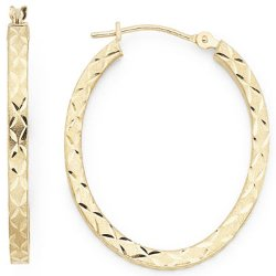 JCPenney - Oval Hoop Earrings
