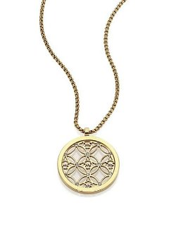 Michael Kors - Heritage Monogram Logo Pendant Necklace