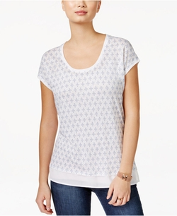 Tommy Hilfiger - Printed Scoop-Neck T-Shirt