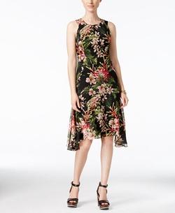 Tommy Hilfiger - Floral-Print Chiffon Dress
