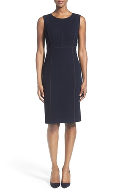 Lafayette 148 New York - Mariana Wool Crepe Sheath Dress