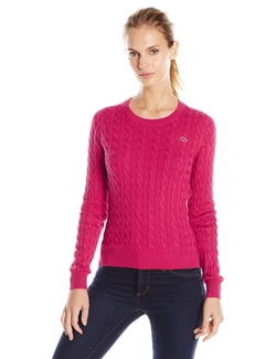 Lacoste  - Long-Sleeve Cable-Knit Cotton Sweater