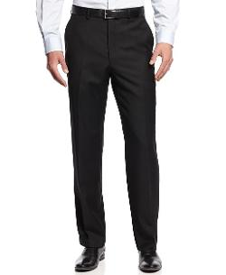 Michael Kors - Black Solid Dress Pants