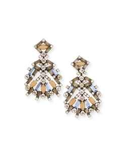 Dannijo - Bavaria Crystal Statement Earrings
