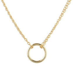 Journee Collection - Dainty Circle Pendant Necklace