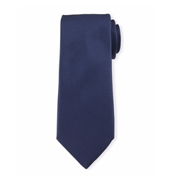 Ermenegildo Zegna  - Textured Solid Silk Tie