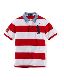 Ralph Lauren - Striped Big Pony Cotton Polo