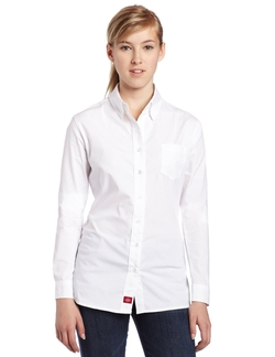 Dickies - Poplin Long-Sleeve Stretch Dress Shirt