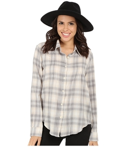 Dylan By True Grit  - Romantic Blouse Buffalo Check Shirt