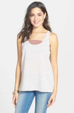Frenchi - Polka Dot Print Swing Tank Top
