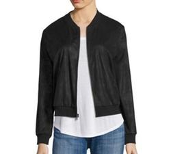 Ella Moss - Faux Leather Bomber Jacket