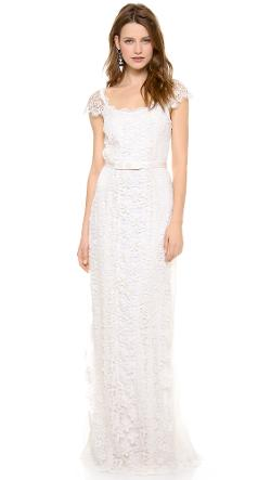 Collette Dinnigan  - Lace Paneled Gown