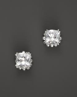 Lagos  - Prism White Topaz Stud Earrings
