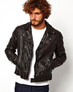 ASOS  - Leather Biker Jacket In Slim Fit