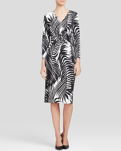 Anne Klein - Printed Wrap Dress