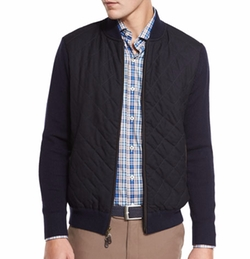 Peter Millar - Quilted Wool-Cotton Bomber Jacket