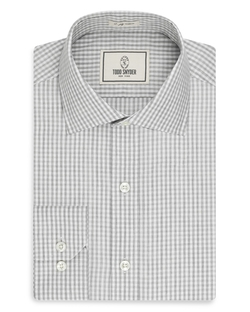 Todd Snyder  - Gingham Check Regular Fit Dress Shirt