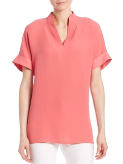Lafayette 148 New York  - Josie Silk Double Georgette Blouse