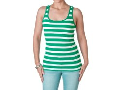 Active Basic - Striped Racerback Tank Top