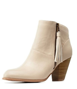 CHarlotte Russe - Side-Tassel Heel Booties