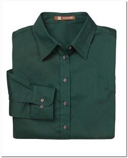 Harriton  - Long-Sleeve Twill Shirt with Stain Release