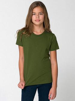 American Apparel - Youth Fine Jersey Short Sleeve T-Shirt