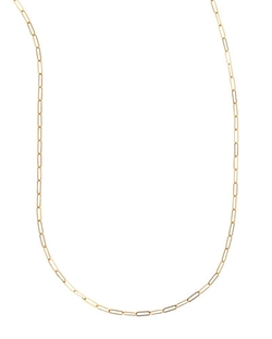 Sarah Chloe - Plated Oval-Link Chain Necklace