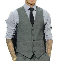 Vobaga - Slim Fit Four Buttons Vest