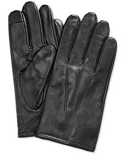 Club Room - Leather Touchscreen Gloves