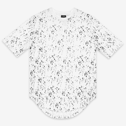 Stampd - Calf Hair Print Scallop Tee Shirt