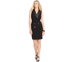 Ralph Lauren - Double-Breasted Sleeveless Dress