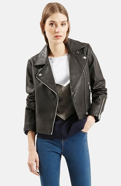 Topshop - Leather Biker Jacket