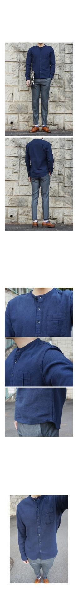 Thom Mason - Mandarin-Collar Shirt