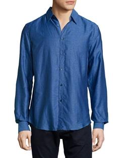 Versace  - Long-Sleeve Woven Dress Shirt