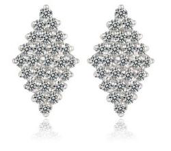 Slyq Jewelry - Rhombus Shape Drop Earrings