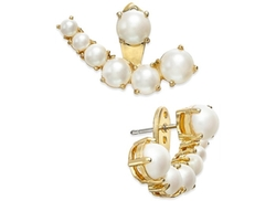 Kate Spade New York  - Gold-Tone Imitation Pearl Ear Jackets