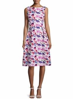 Rickie Freeman for Teri Jon - Sleeveless Floral Midi Dress