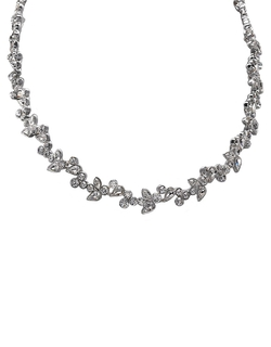 Givenchy  - Silver Collar Vine Necklace