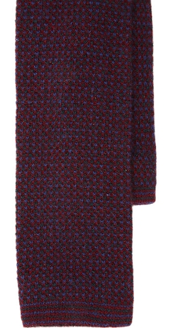 Barneys New York  - Birdseye-Knit Neck Tie