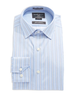Black Brown 1826  - Striped Dress Shirt