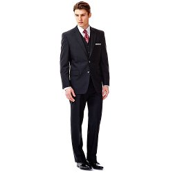 Haggar - Slim-Fit Black Suit Separates - Men