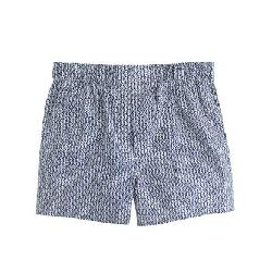 J.CREW - BOXERS IN UNION BLUE HERRINGBONE PRINT