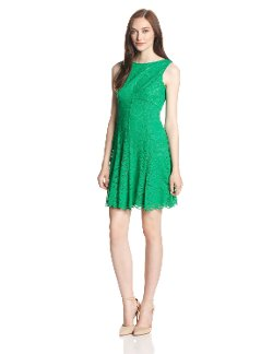 Maggy London - Sleeveless Lace Fit-and-Flare Dress