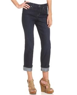 Style & Co. - Curvy-Fit Cuff Capri Jeans