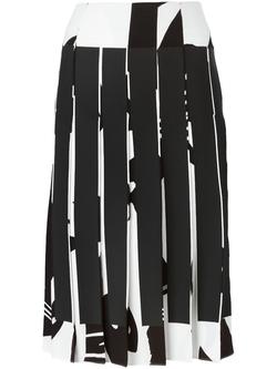 MCQ Alexander Mcqueen   - Bunny Print Pleated Skirt