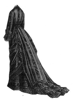 Ageless Patterns - 1876 Black Faille Dress Pattern