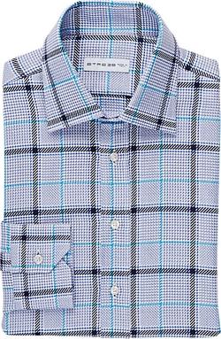 Etro  - Glen Plaid Jacquard Dress Shirt