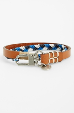 Caputo & Co - Leather & Nylon Wrap Bracelet