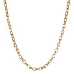 JC Penney - Stainless Steel & Gold Thin Rolo Chain Necklace